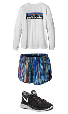 """""""Track Practice"""" by zoeantonpeat ❤ liked on Polyvore featuring NIKE, Patagonia, preppy, Prep and southernprep"""