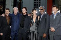 Morgan Freeman, Gary Oldman, Christian Bale, Michael Caine, Liam Neeson and Katie Holmes at event of Batman Begins (2005)