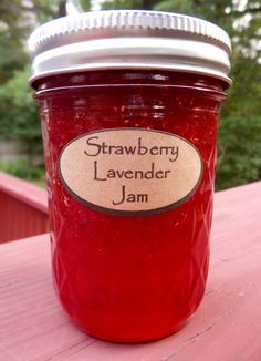 Strawberry Lavender Jam - From the Garden Table