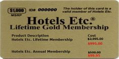 With membership card of Hotels Etc, you can access to deepest travel discounts, entertainment discounts and recreation discounts that you can't find anywhere on the net.