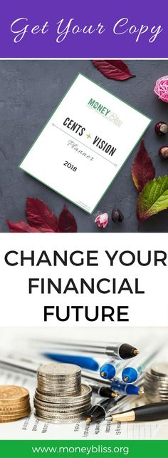 Cents + Vision Planner. Combing your vision with your sense. Control your money. Don't have your money control you. Budget planner 2018. Meal planning calendar. Vision planning. Ledgers. Printables. Worksheets. Monthly reflection questions.