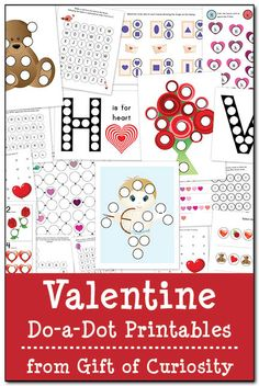 Valentine Do-a-Dot Printables - Gift of Curiosity