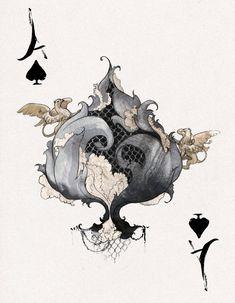 DesRay Deck Ace of Spades by *robbiedraws