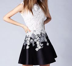 Slim was thin lace embroidery sleeveless dress SF51612JL