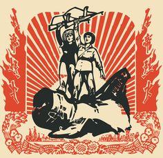 Chinese propaganda. Shepard Fairey inspiration..