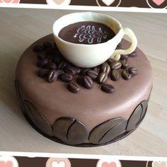 Coffee themed cake