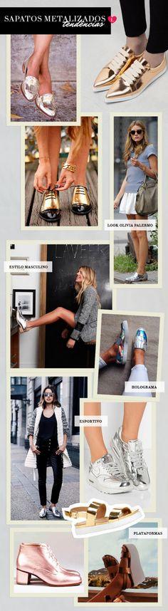 sapatos metalizados como usar