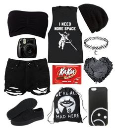 """""""Untitled #237"""" by fallensnowaa ❤ liked on Polyvore featuring Boohoo, Rick Owens, Fujifilm, Marc by Marc Jacobs and Vans"""