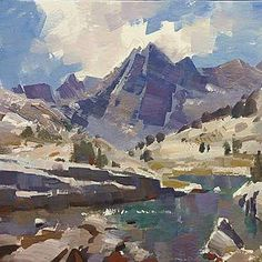 Mike Hernandez North Forks Lakes 5x7 gouache