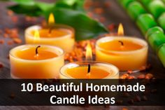 10 Beautiful Homemade Candle Ideas Read HERE --- > http://www.livinggreenandfrugally.com/10-beautiful-homemade-candle-ideas/