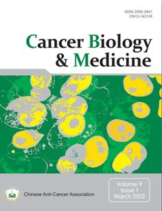 Cancer Biology & Medicine - Indexed by EIJASR Cancer Biology & Medicine (ISSN 2095-3941) is a peer-reviewed open-access journal of Chinese Anti-cancer Association (CACA), which is the leading professional society of oncology in China.  For more details : http://www.eijasr.com/indexing-journals/98/Cancer-Biology.html