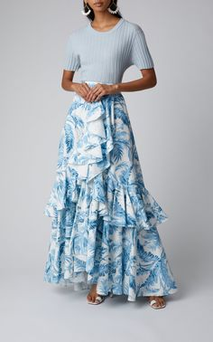 Get inspired and discover Lena Hoschek trunkshow! Shop the latest Lena Hoschek collection at Moda Operandi. Fiesta Outfit, Cotton Maxi Skirts, Pencil Skirt Outfits, Ladies Dress Design, The Dress, Chiffon Dress, African Fashion, Tie Dye Skirt, Fashion Looks