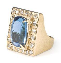 Sotheby's- Elvis Presley BLUE TOPAZ AND DIAMOND RING Estimate  7,000 — 9,000  USD