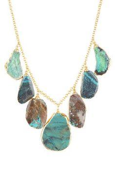 Elisa Multi-Stone Turquoise Cascade Necklace