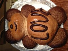 An edible love bread bear.