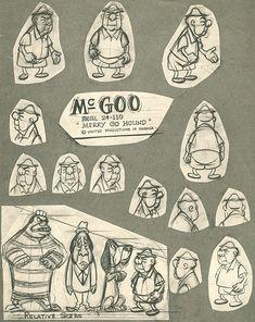 Early 50s UPA Model Sheets
