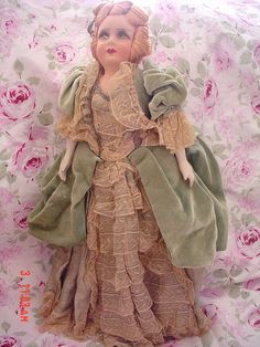 All original french boudoir doll