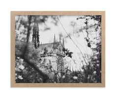 """""""Looking Through to the Notre Dame"""" - Art Print by Wildfield Paper Co. in beautiful frame options and a variety of sizes."""