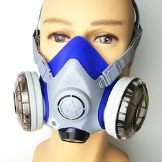 (59.90$)  Watch now - http://ai2gl.worlditems.win/all/product.php?id=32758764152 - Pro Gas Mask Silica Dual Filter Cartridge Anti-dust Anti PM2.5 Industrial Construction Dust Haze  Pesticide Spray Paint Mask