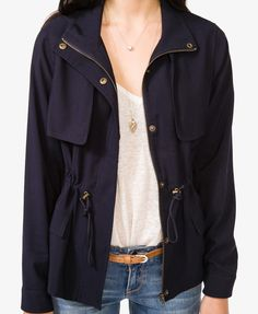 Essential Drawstring Jacket | FOREVER21 - 2030186856 - purchased in sz XS (highly recommend)