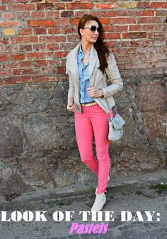 natalie's style: LOOK OF THE DAY: Pastels