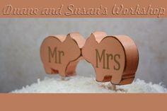 mr and mrs Love Pig cake topper custom love Pigs by DuanesWorkshop, $15.00