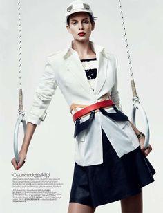 Sophisticated Sport Fashion - The Vogue Turkey 'Sic Spor' Editorial Stars a Strong Ellinore Erichsen (GALLERY)