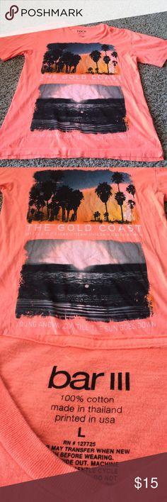 NWOT bar 3 III graphic Tee! Beautiful orange color with beach and palm tree graphic! Bar III Shirts Tees - Short Sleeve