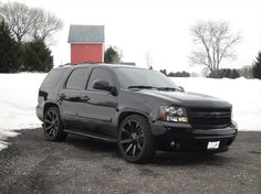 Ground Force Lowering Kit, Slide, Nitto Brakes 14 all around,Blacked Out Escalade Tails,Escalade brake light 2007 Chevrolet Tahoe, Chevrolet Silverado, Suv Trucks, Chevy Trucks, Murdered Out, Chevrolet Suburban, 3d Models, My Ride, Cool Cars