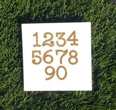 Customizable Glitter Number Stickers Any Color by KbPaperCo