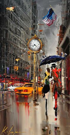 Hand Painted oil Painting lovers under umbrella on new york city couple oil painting for Living room Wall Art Modern Picture City Art, Art Watercolor, Umbrella Art, Parasols, Art Abstrait, Urban Art, Love Art, Amazing Art, Art Photography