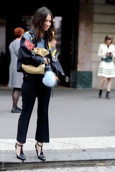 Natasha Goldenberg Paris Fashion Week Street Style Spring 2018