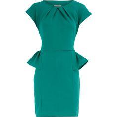 Jade peplum dress ❤ liked on Polyvore