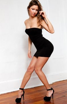 New York Black / Large Intimate & Cozy Stretch Knit Tube Top Sexy Mini Dress Fashion Versatile LBD KD dance NY Made In USA @KDdanceNewYork #MadeInUSA - 1
