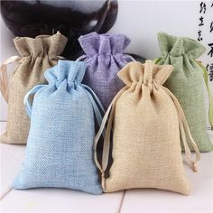 Easter Garden natural Burlap Linen Jewelry Travel storage Pouch Ring Beads Mini Candy jute Packing Bags for Gift wedding Nylons, Burlap Favor Bags, Wedding Gift Bags, Wedding Candy, Wedding Favors, Party Favors, Wedding Decorations, Jute Bags, Hessian Bags