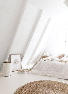 Creating a Bedroom Haven with White Walls + Warm Neutrals