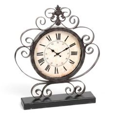 We're sure this Bronze Scroll Tabletop Clock's antique style will perfectly match your sophisticated décor! #kirklands #SweetSimplicity