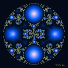 Blue Suns and Moons... not sure where this belongs, but I do like the picture Colorful Mandalas