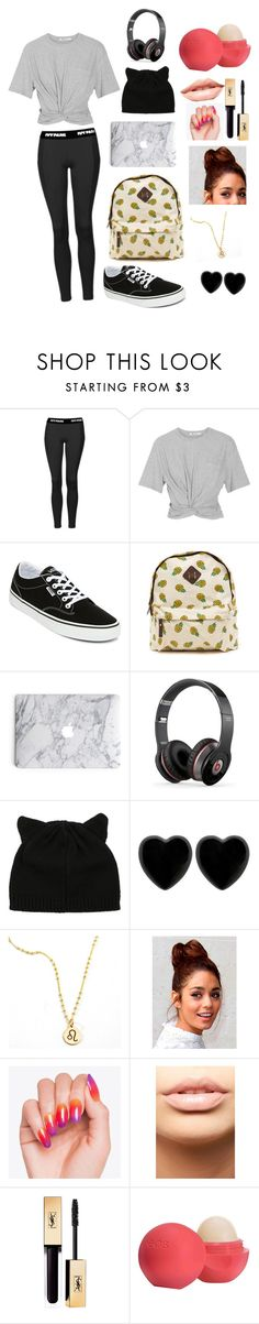 """""""Untitled #10"""" by runahtheunicorn ❤ liked on Polyvore featuring Topshop, T By Alexander Wang, Vans, Beats by Dr. Dre, Dollydagger, MDMflow and Eos"""