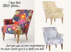 makingitlovely.com loves this crazy fabric, and I love the chair!