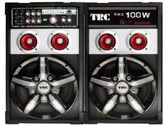 Caixa de Som Amplificadora TRC com Entrada USB - Radio FM e Microfone incluso - 100W com as melhores condições você encontra no Magazine Sualojaverde. Confira!