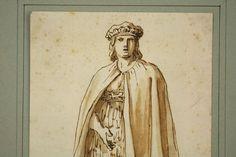 Meisterzeichnung Italien Costume Mexican um 1750 Italy Mexico conquistadore MEX in Antiquitäten & Kunst, Malerei, Gemälde 1700-1799   eBay