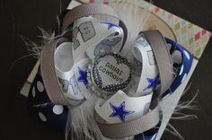 Dallas Cowboys Bottle Cap Bow by threepeasboutique on Etsy, $7.50