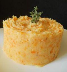 Purée de pommes de terre et carotte