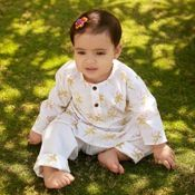 Super soft and super comfy Bandwallah Parrot Baby Kurta-pyjama suit for children