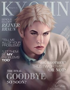 SnK Magazine: Reiner by putemphasis on DeviantArt