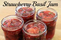 How to make strawberry basil jam.