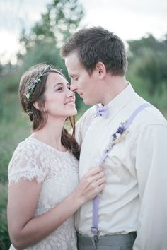 Lavender Wedding Inspiration ~ Click to see more from this gorgeous photo shoot by Paige and Blake Photography!