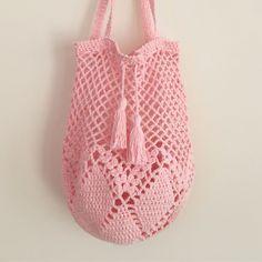 Virkad nätvästa/nätkasse, Hummingbird. Crochet bag. Linen Soft, Scheepjes. Pattern/mönster på bloggen. Nouw.com/pysselofix