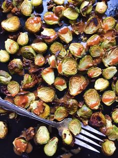 Almond Butter Balsamic Brussels – The Dish On Healthy